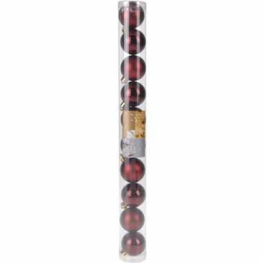 10-delige kerstballen set bordeaux