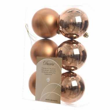 12-delige kerstballen set brons
