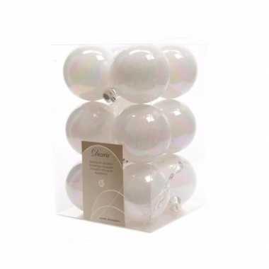 12-delige kerstballen set wit