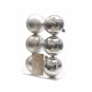 12-delige kerstballen set zilver