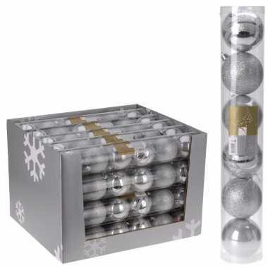 12-delige kerstballen set zilver 7 cm