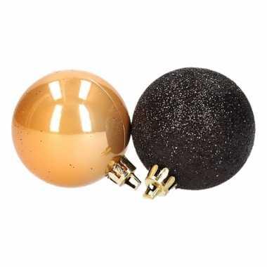 12-delige kerstballen set zwart/goud