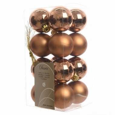 16 delige kerstballen set brons 10082118