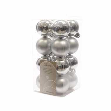 16 delige kerstballen set zilver 10082111