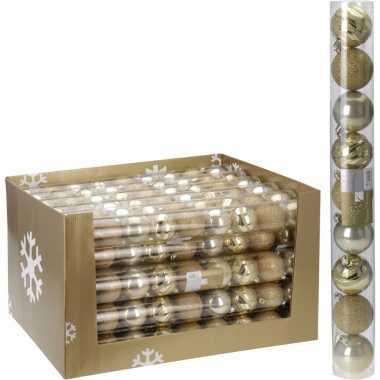 18-delige kerstballen set goud 6 cm