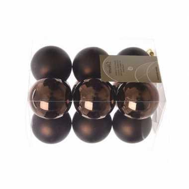 24-delige kerstballen set bruin