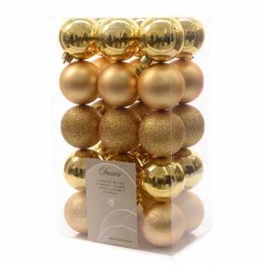 30-delige kerstballen set goud