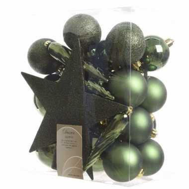 33-delige kerstballen set groen