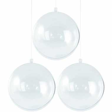 3x kerstballen om te vullen 8 cm