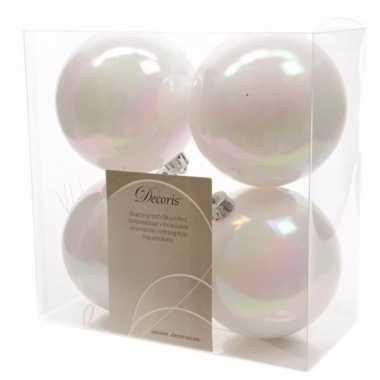 4-delige kerstballen set wit