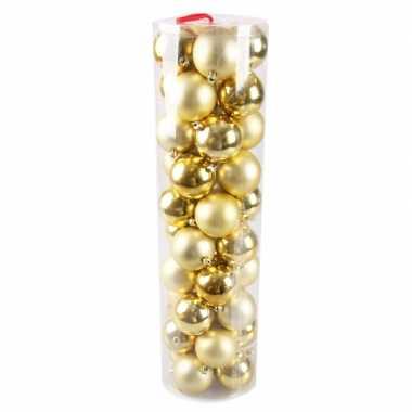 40 gouden kerstballen 6 cm