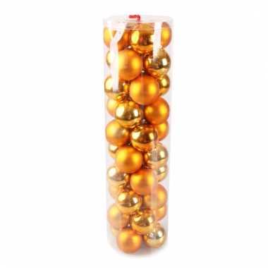 40 oranje kerstballen 6 cm