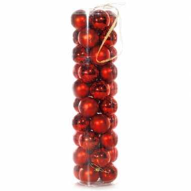 40 rode kerstballen 6 cm