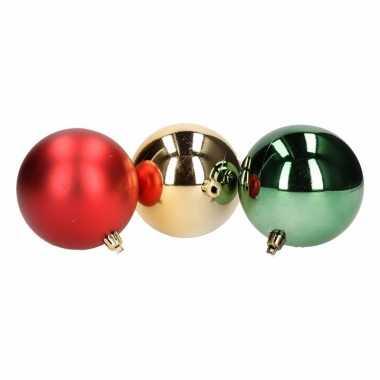 5-delige kerstballen set rood/groen