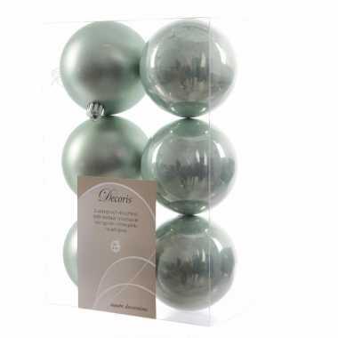 6-delige kerstballen set mint groen