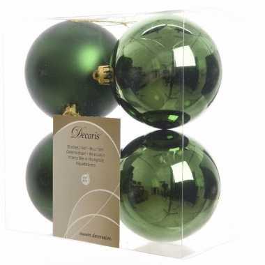 8-delige kerstballen set groen