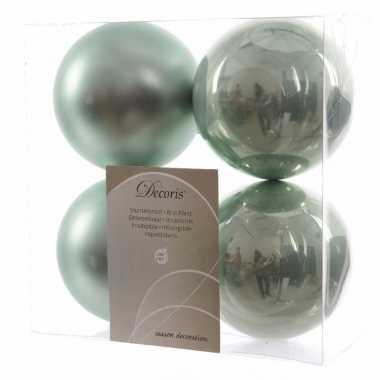 8-delige kerstballen set mint groen