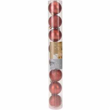 8-delige kerstballen set rood