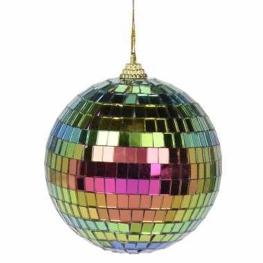8x kerstversiering/kerstdecoratie gekleurde disco kerstballen 6 cm