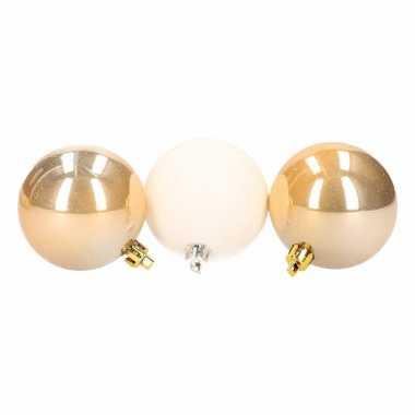 9-delige kerstballen set wit/goud