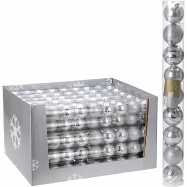9-delige kerstballen set zilver