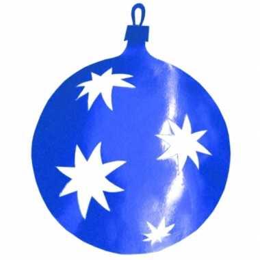 Blauwe kerstballen hangdecoratie 30 cm