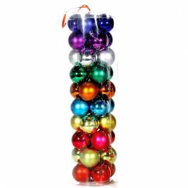 Gekleurde kerstballen 40 stuks