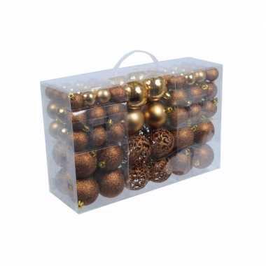Goedkope kerstballen brons 100 stuks