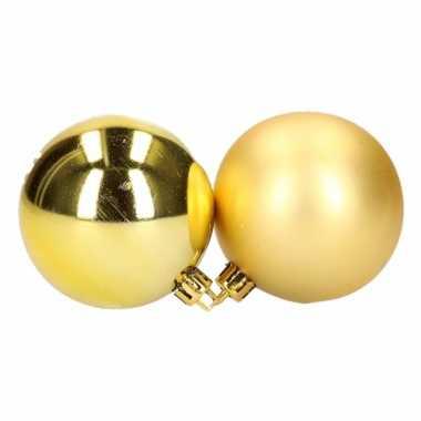Gouden kerstballen setjes 6 cm 12 stuks