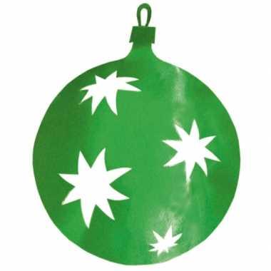 Groene kerstballen hangdecoratie 40 cm