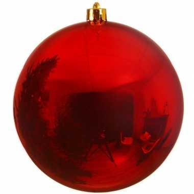 Grote raam/deur/kerstboom decoratie rode kerstballen 25 cm glans