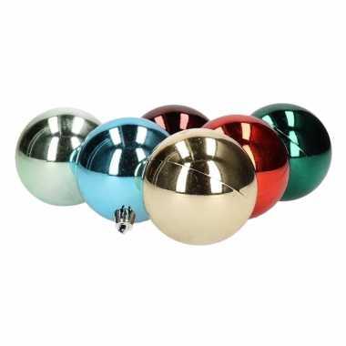 Kerstballen glanzend 12 stuks 6 cm