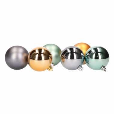 Kerstballen glanzend en mat 6 stuks