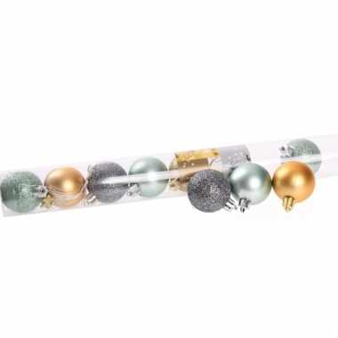 Kerstballen glitters en mat 10 stuks