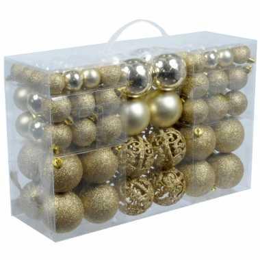 Kerstballen goud 100 stuks