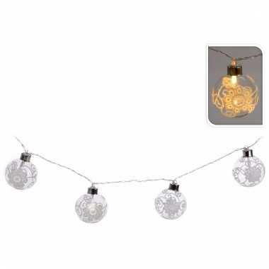 Kerstballen kerstslinger met led lampjes