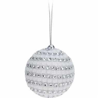 Kerstballen met steentjes 5 5 cm