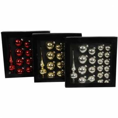 Kerstballen rood 21 stuks