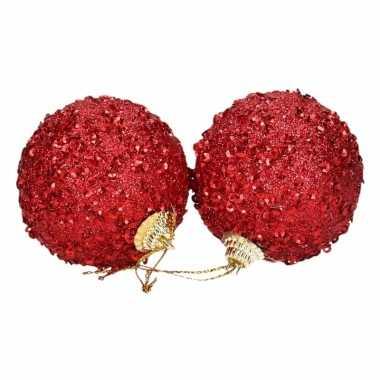 Kerstballen rood 4 cm