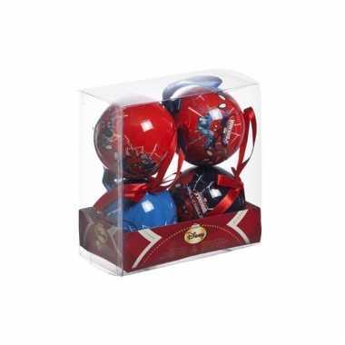 Marvel kerstballen spiderman 4 stuks