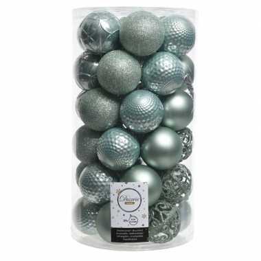 Mintgroene kerstballen set 6 cm 36 stuks