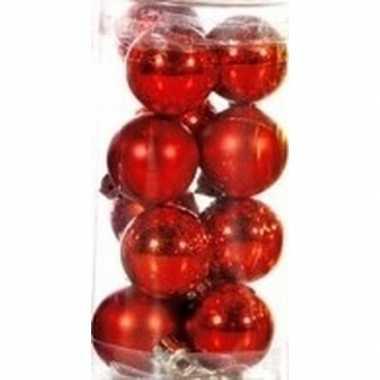 Rode kerstballen 12 stuks 3 cm