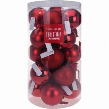 Rode Kerstballen Set 12 Cm Kerstballen Kopen Nl
