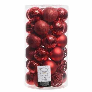 Rode kerstballen set 36 stuks