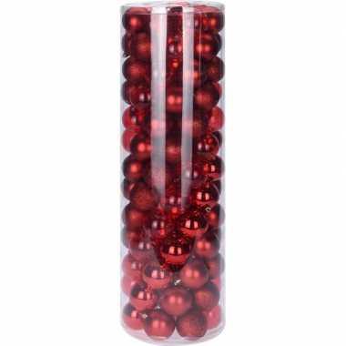 Rode kerstballen set 6 cm