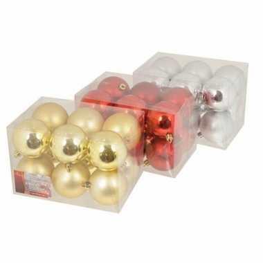 Rode kerstballen setjes 6 cm 12 stuks