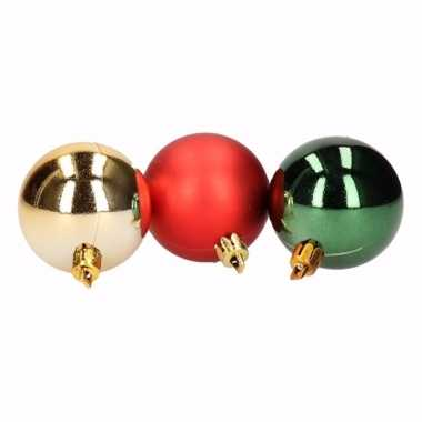 Traditional christmas 5 delige kerstballen set rood groen