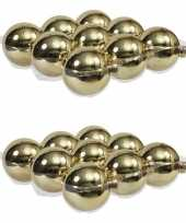 18x glazen kerstballen glans goud 10 cm