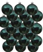 18x glazen kerstballen glans turkoois blauw 6 cm kerstboom versiering decoratie 10170746