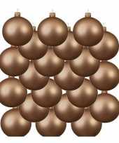 18x glazen kerstballen mat donker parel champagne 8 cm kerstboom versiering decoratie